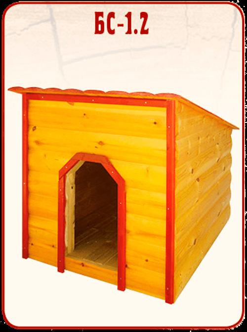 готовая деревянная будка для собаки БС 1.2