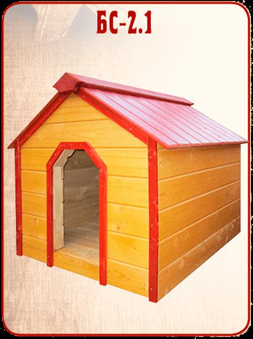 готовая деревянная будка для собаки БС 2.1