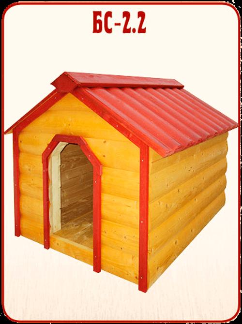 готовая деревянная будка для собаки БС 2.2